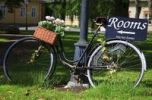 Thumbnail Bicycle with sign in Naantali, Finland, Europe
