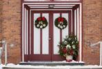 Thumbnail Doors and wreath