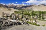 Thumbnail view over Leh valley, Indus valley, Ladakh, Jammu and Kashmir, India