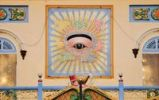 Thumbnail The eye, sacred symbol of the Cao Dai sect, Tay Ninh, Vietnam, Asia