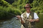Thumbnail Angler casting a line