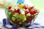 Thumbnail Greek salad with tomatoes, peppers, feta cheese, cucumbers and olives