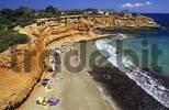 Thumbnail people on the beach of Cala sa Caleta or Bol Nou