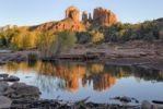 Thumbnail Cathedral Rock reflected in Oak Creek, Sedona, Red Rock Country, Arizona, USA