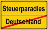 Thumbnail Sign city limits, symbolic image for tax havens outside Germany