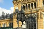 Thumbnail Hannover Niedersachsen Germany statue of King Ernst August in front of the main central railway station