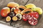 Thumbnail Exotic fruits, Mango, Passionfruit, Grenadilla, Papaya, Pomegranate