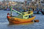 Thumbnail Colourful wooden fishing boats in the port of Phan Thiet, Vietnam, Asia