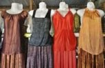 Thumbnail Colorful silk dresses on mannequins, Dalat capital, Central Highlands, Vietnam, Asia
