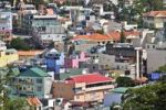 Thumbnail View over the colorful houses and rooftops of the Dalat capital, Central Highlands, Vietnam, Asia