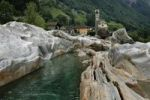 Thumbnail Rock formation in Lavertezzo at the Verzasca River, Valle Verzasca valley, Ticino, Switzerland, Europe