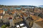 Thumbnail Overlooking the roofs of Trogir from the Campanile, bell tower, Lawrence Cathedral, Trogir, Northern Dalmatia, Croatia, Europe
