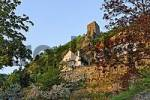 Thumbnail castle tower and villas, Dürnstein at the river Danube, area of Wachau, Lower Austria, Austria