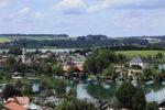 Thumbnail Mattsee city and lake, in the back the Obertrumer See lake, Flachgau, Salzburger Land, Land Salzburg, Austria, Europe