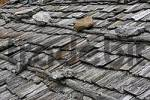 Thumbnail a roof made of wooden shingles is fixed with heavy stones, Schnalstal, South Tyrol, Italy