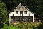 Thumbnail Traditional Umgebindehaus, house in traditional building style, Vsemily, Bohemia, Czech Republic, Europe