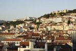 Thumbnail View of the Baixa district, the Mosteiro Nossa Senhora da Graca monastery, and the Castelo Sao Jorge castle, Moorish fortress, Lisbon, Portugal, Europe