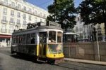 Thumbnail Tram on the Praca Luis de Camoes square, Chiado, Lisbon, Portugal, Europe