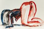 Thumbnail Female nude, watercolor, artist Gerd Kraus, Kriftel, Germany, Europe