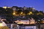 Thumbnail View of the original Moorish castle Castelo de Sao Jorge at night, Lisbon, Portugal, Europe