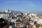 Thumbnail View over the Alfama district with the monastery and church of Sao Vicente de Fora, Lisbon, Portugal, Europe