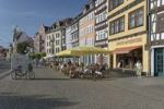 Thumbnail Cafes on Domplatz square, Erfurt, Thuringia, Germany, Europe