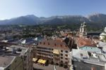 Thumbnail Historic city centre of Innsbruck with the Golden Roof and Cathedral, view from City Tower, Tyrol, Austria, Europe