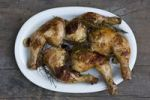 Thumbnail Grilled chicken legs with rosemary, thyme and garlic