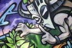 Thumbnail Graffiti art, Augartenbruecke bridge, Graz, Styria, Austria, Europe