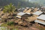 Thumbnail Overlooking the village of the Tai Lue ethnic group on the Lue river, roofs made of straw and corrugated iron, Ban Neua Gnay Xie, Gnot Ou district, Yot Ou, Phongsali, Phongsali province, Laos, Sou