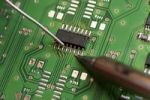 Thumbnail Soldering an electronic component on a printed circuit board