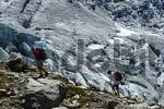 Thumbnail Hiking along the glacier, Glacier du Tour, Haute Savoie, France