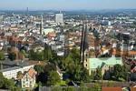 Thumbnail view from the Sparrenburg on the Neustaedter Marienkirche, Bielefeld, Teutoburg Forest, North Rhine-Westphalia, Germany