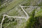 Thumbnail Zigzag path to the Gemmi pass, Leukerbad, Loèche-les-Bains, Valais, Switzerland, Europe