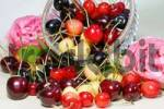 Thumbnail Diffrent cherry types, colorful cherry mix