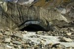 Thumbnail Glacier snout of the Langgletscher glacier with the Lonza river as meltwater effluent at the end of the glacier tongue, Loetschental valley, Valais, Switzerland, Europe