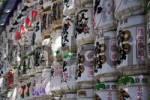 Thumbnail kegs of sage for the New Years Day Celebration, Meiji-Shrine, Tokyo, Kanto, Japan