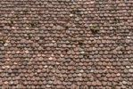 Thumbnail Roofing tiles with old beaver tail tiles, detail, Rothenburg ob der Tauber, Bavaria, Germany, Europe
