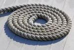 Thumbnail Accurately coiled rope on a deck, symbolic image for beginning or order, Kiel, Schleswig-Holstein, Germany, Europe