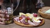 Thumbnail Bavarian vespers, a snack with typical local sausages and a cheese platter
