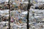 Thumbnail Compressed PET bottles, recycling yard