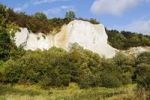 "Thumbnail Former chalk quarry, at the back chalk cliff ""kleiner Koenigsstuhl"", chalk museum Gummanz, Jasmund peninsula, Ruegen Island, Mecklenburg-Western Pomerania, Germany, Europe"