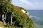 Thumbnail Wissower Klinken chalk formations, view from the Hochuferweg path on the chalk cliffs in the Jasmund National park, Jasmund peninsula, Ruegen Island, Mecklenburg-Western Pomerania, Germany, Europe