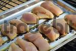 Thumbnail turkey meat to grill