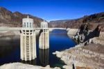 Thumbnail Hoover Dam near Las Vegas, the water level having already dropped by about 30 m, Boulder City, historically Junction City, Nevada, USA, North America