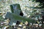 Thumbnail Lying stone cross in the historic cemetery in Weimar, Thuringia, Germany, Europe
