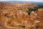 Thumbnail Hikers on the Queens Garden Trail, rocky landscape with hoodoos, Bryce Canyon National Park, Utah, USA