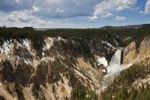 Thumbnail View of the Yellowstone Canyon with the Lower Falls, Yellowstone National Park, Wyoming, Idaho, Montana, America, United States