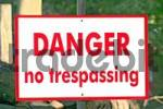 Thumbnail sign danger no trespassing