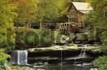 Thumbnail historic mill and waterfall at Babcock State Park